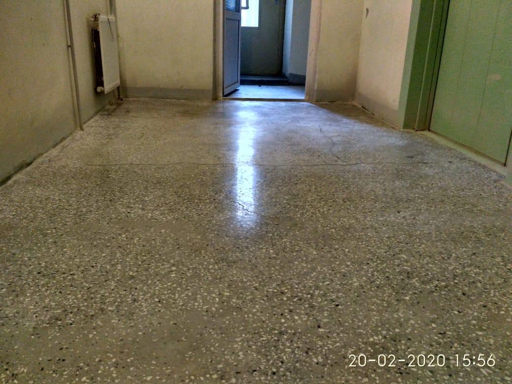 Ремонт полировка бетона лестнечной площадки